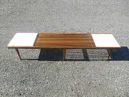slat bench coffee table danish vatican