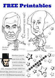 Small Picture FREE President Lincoln Washington Coloring Sheet Handwriting
