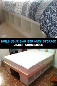 Build an Inexpensive Bed with Storage Using Bookcases (Small Diy Projects)