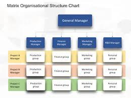 Matrix Organisational Chart Organizational Chart