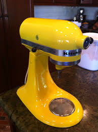 kitchenaid mixer yellow. how to: paint your kitchen aid mixer kitchenaid yellow e