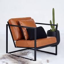 brilliant ideas of modern designer stanley armchair black metal frame leather seating marvelous tan leather