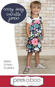 Jumper Pattern Classy Oopsy Daisy Overalls Jumper PDF Sewing Pattern