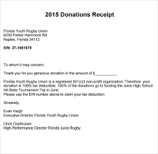 donation receipt letter templates 26 images of non profit donation receipt letter template