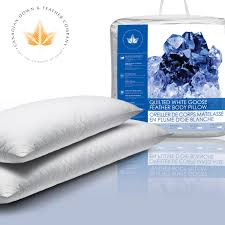 down feather body pillow. Beautiful Body Stack Of 2 Diamond Quilted Body Pillows In Front Pillow Bag  Intended Down Feather N