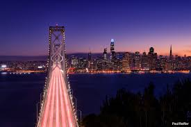 Blue Light In San Francisco Sky San Francisco The City The Bay And The Golden Gate Bridge