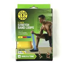 Stretch Band Loops Exercise Chart Details About Golds Gym Stretch Band Loops Workout Build Tone Balance 3 Pack 16 5x4 Plus Chart