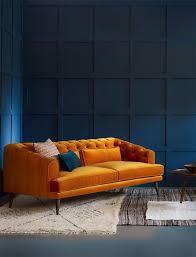 ORANGE SOFA | Incredible orange sofa design would be a great statement  piece | www.