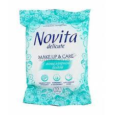 <b>Салфетки Novita</b> (<b>Новита</b>) <b>влажные</b> с мицеллярной водой ...