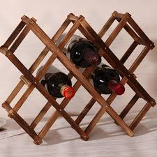 Creative Kitchen Display Classical Folding <b>Wooden Red Wine Rack</b> ...