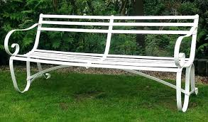 white iron garden furniture. White Metal Garden Bench Image Of Wrought Iron Furniture For Sale