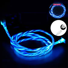 Blue Light Up Iphone Charger Details About Led Flowing Light Up Ios Typec Micro Usb Fast Charging Cable For Iphone Android