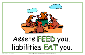 assets and liabilities assets feed you liabilities eat you creative wealth international