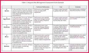 Risk Management Plan Plan Risk Management Plan Template 1