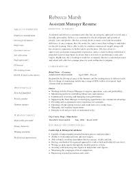Cv Shop Assistant Assistant Manager Cv Template Corporateportraits Info