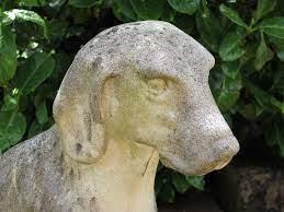 composite stone garden statue and