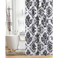 black and white shower curtains. Shower Curtain Fabric Classic Noir Black And White 70 Curtains