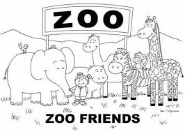 Simple Zoo Coloring Page Hasshecom