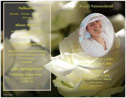 Download Funeral Program Templates LifecyclePrints Celebration Of Life Funeral Program Templates 24