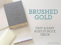 Wedding Invitation Downloads Brushed Gold Diy Wedding Invitation Free Printable