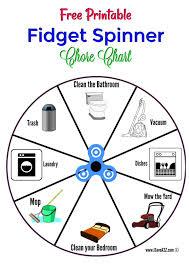 Spinner Chart Free Printable Fidget Spinner Chore Chart Chores For Kids