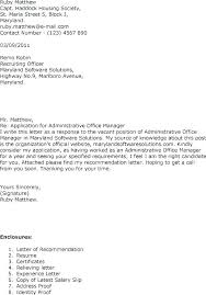 Cover Letter Examples Office Manager Sample Cover Letter For Office