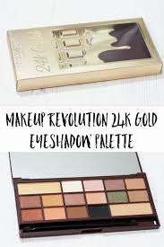review and swatches of the makeup revolution i makeup 24k gold eyeshadow palette