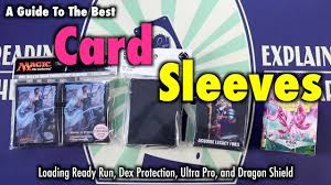 a review of the best card sleeves lrr dragon shield dex protection and ultra pro matte