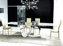 modern glass dining tables contemporary table tempered rectangular extending infinity malaysia