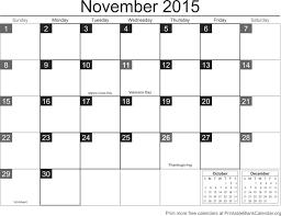Calendar Blank 2015 November 2015 Printable Calendar Printable Blank Calendar Org