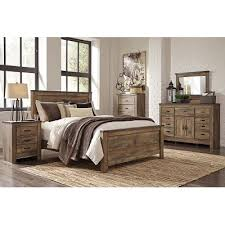 Rustic Bedroom Sets Intended For Casual Contemporary 6 Piece King Set  Trinell RC Remodel 1
