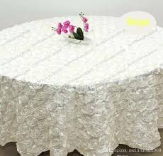 blue round tablecloth whole white color m wedding round table cloth overlays rose petal tablecloths for banquet wedding party decoration pink red blue