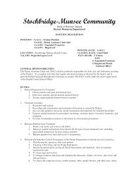 Student Assistant Job Description For Resume Resume For Study