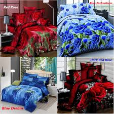 4pcs printed 3d bedding set queen size quilt cover bed sheet pillowcases textile 1 of 8free