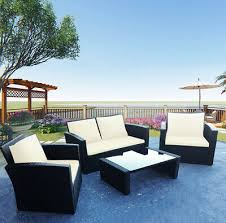 4 piece teak patio furniture set with