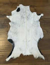 goat skin hide rug soft fur animal skin pelt floor rug