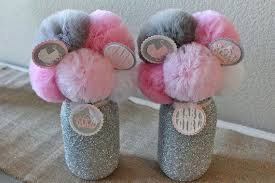 pink and gray baby shower centerpieces items similar to pink gray baby shower decorations baby shower