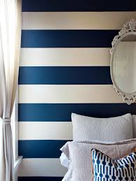 Bedroom:Modern Striped Accents Wall Bedroom Ideas Nice Blue And White Striped  Accents Wall Bedroom
