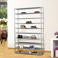 Home Basics 10 Tier Coated Non Woven Shoe Rack Amazon 100 Tier Extra Wide Gray Shoe Rack Shelf Tower Storage 21