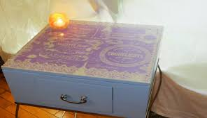 decoupage ideas for furniture. VIEW IN GALLERY Lace Side Table Decoupage Ideas For Furniture D