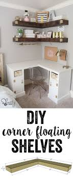 cute simple home office ideas. DIY Floating Corner Shelves Cute Simple Home Office Ideas