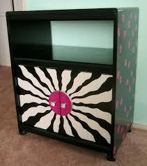photo of black and hot pink polka dot cabinet 2014 by lynda makara black painted furniture ideas
