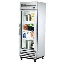 small glass door refrigerator for true t reach in 1 swing jeans restaurant supply fridge