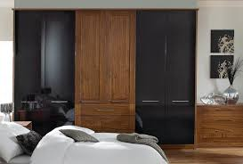 Modena Black Bedroom Furniture  Walnut Wardrobes From Sharps - Black and walnut bedroom furniture
