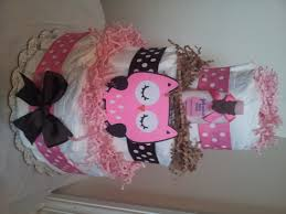 Owl Themed Baby Shower Cake By Exclusive Cakes Birthday  Cakes Owl Baby Shower Cakes For A Girl