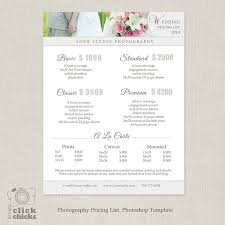 Wedding Photography Checklist Template Wedding Photography Package Pricing List Template