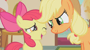 Image result for applejack and apple bloom