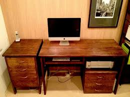 Custom made furniture - oak desk and drawer units