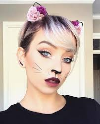 cute and simple cat makeup for