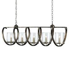 currey and company maximus rectangular chandelier bronze